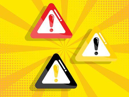 warning, attention sign vector illustration flat design
