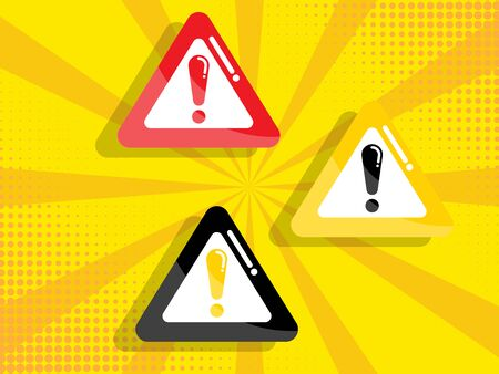 warning, attention sign vector illustration flat design
