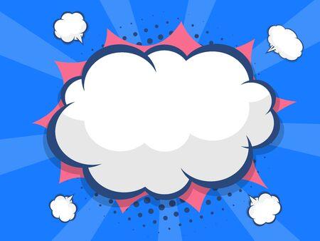 blank speech bubble comic book, pop art vector illustration background Ilustracja
