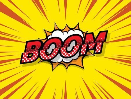 boom comic book, pop art background vector illustration 일러스트