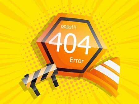 Vaya página de error 404 no encontrada ilustración de vector de fondo cómico Ilustración de vector