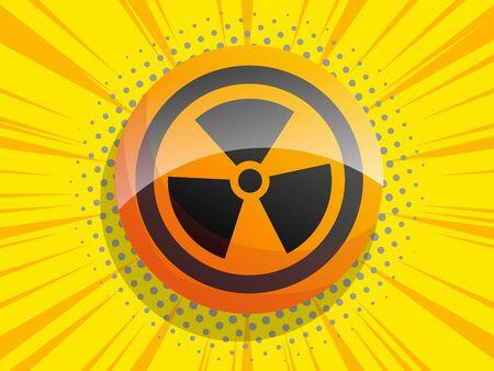 radiation sign comic background vector illustration 일러스트