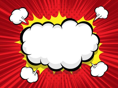 comic background with blank boom speech bubble vector illustration