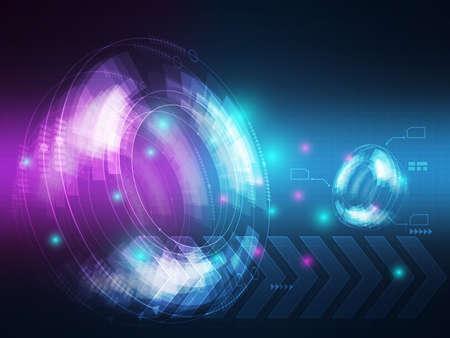 abstract technology hi tech data transfer communication background vector illustration