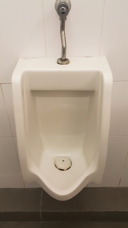 urinal: Urinal in mens bathroom