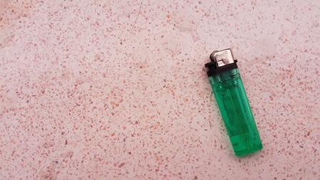 butane: Lighter on marble Stock Photo