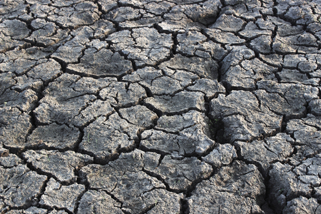 starvation: Dry soil cracking nature texture background Stock Photo