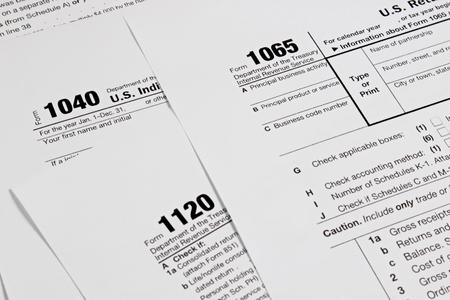 impuestos: formulario de impuestos de Estados Unidos para el concepto de imposición de fondo