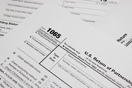 taxation: US tax form for taxation concept background