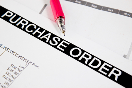 orden de compra: formulario de orden de compra