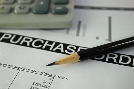 orden de compra: Compra formulario de pedido con el l�piz