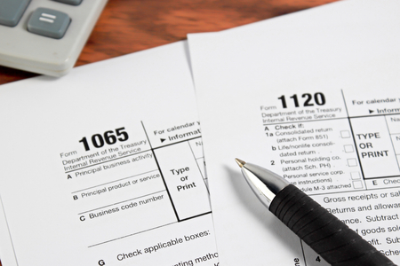 federal tax return: US tax form   taxation concept