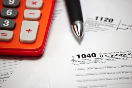 tax form: US tax form   taxation concept