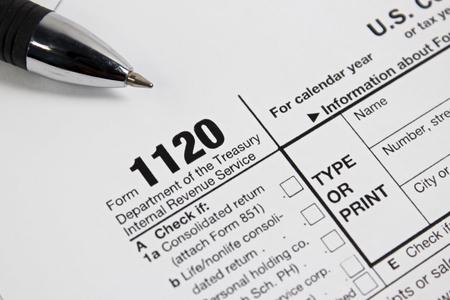 tax form: US tax form 1020 taxation concept