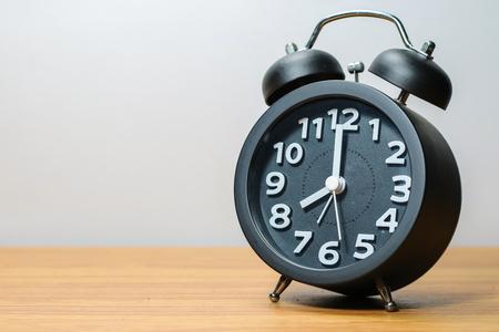 Black alarm clock Stock Photo