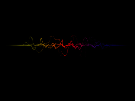 sound wave in on black background Stock Photo