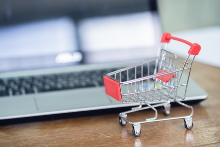 Shopping online and ecommerce concept