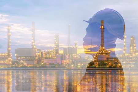 Double exposure of engineer and refinery