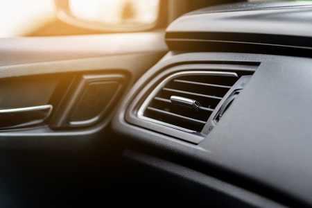 Air Conditioner in the modern car Stock Photo