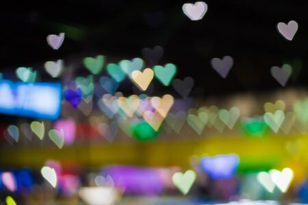 Heart-shaped bokeh background 版權商用圖片