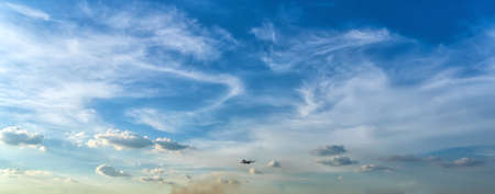 Passenger plane in beautiful sky
