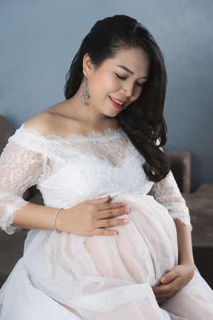 Beautiful Asian pregnant women