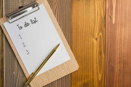 to do list on wood background