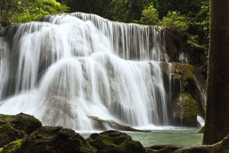 Called Huai Mae Kamin Waterfall, Kanchanaburi is Thailand. Stock Photo - 7037967