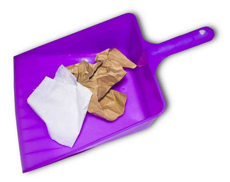 The dustpan is a resident of the women have to use it. Stock Photo - 8444475