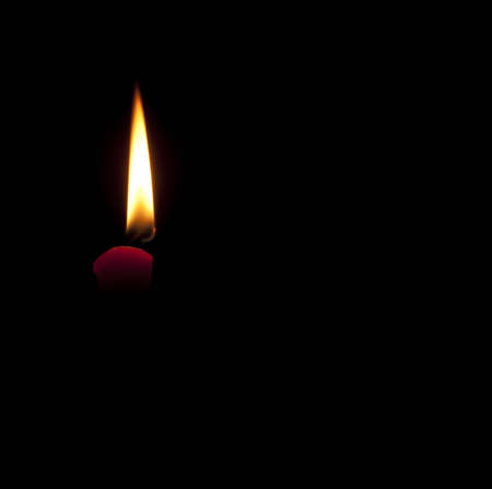 Candle use to navigate. Instead of shining sun or in lieu of electricity. photo