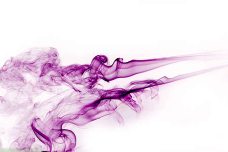 Purple smoke from the incense smoke from the imagination. photo
