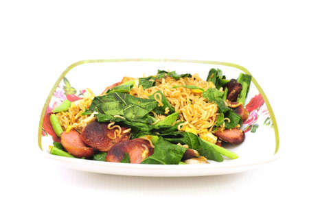 Stir-fried noodle dishes such as the one that took me to eat snacks or fast food  photo