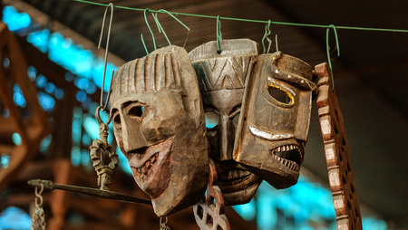 shamanism: Ancient Wooden Ritual Masks of India