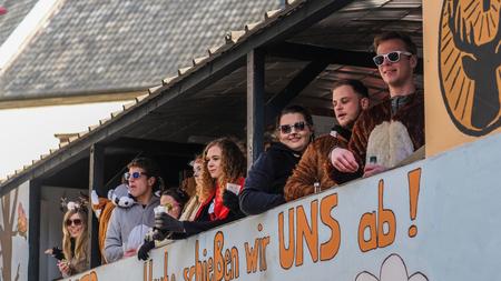 Warendorf, Nordrheinwestfalen, Deutschland, Februar 2018 - Karneval an Rosenmontag in Warendorf