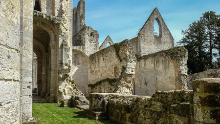 Monastery Abbaye de Jumièges  Jumièges Abbey in Normandy, France Stock Photo