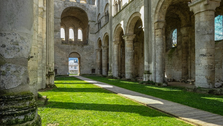 Jumièges Abbey in Normandy, France