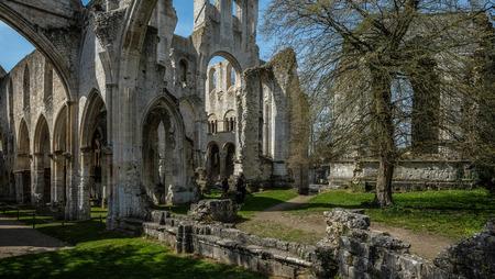 Monastery Abbaye de Jumièges in Normandy, France Stock Photo