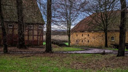 Abandoned farmhouse  Germany  Stock Photo