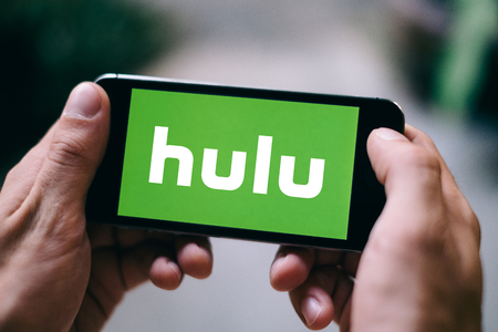 COLOGNE, GERMANY - FEBRUARY 27, 2018: Closeup of Hulu logo displayed on Apple iPhone Editorial