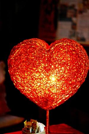 Hart-vormige lamp Stockfoto - 12978040