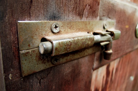 old latch on the door