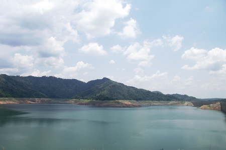 Khun-Dan Prakarnchon Dam, Nakhon Nayok, Thailand  Stock Photo - 13242679