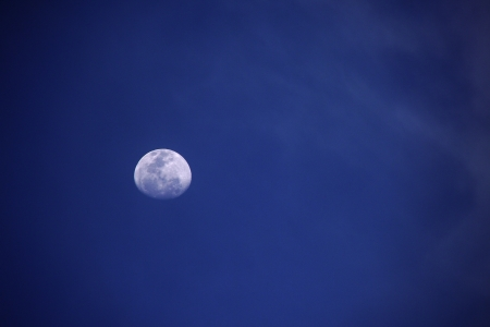 Moon in the blue sky Stock Photo - 13784016