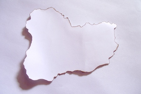 edges: Structured white paper with burned edges  Stock Photo