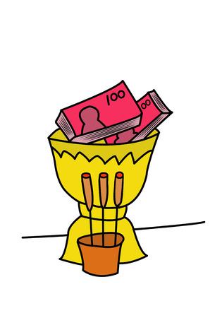 credulous: money worship cartoon