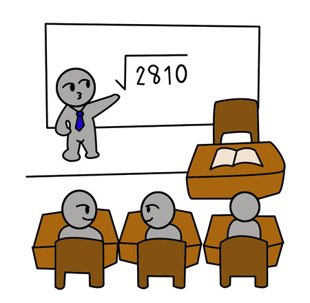 classroom cartoon