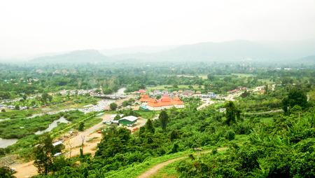 spillway: View from the top of the Khun-Dan Prakarnchon Dam, Nakhon Nayok, Thailand