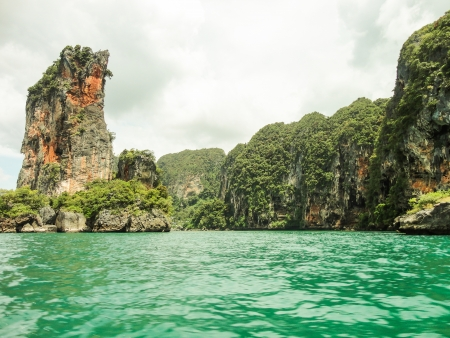 the clear sea Phi Phi Leh south of Thailand Stock Photo