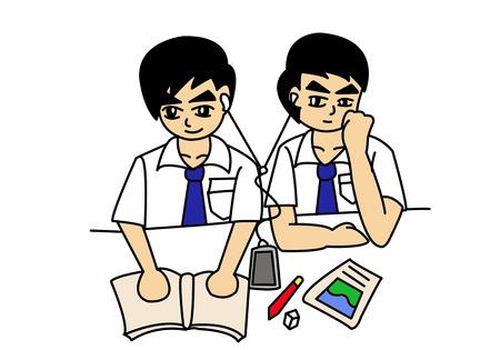 workmanship: boy friend, cartoon