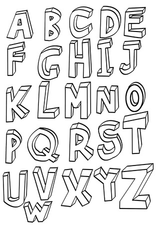 English letters lined figure Imagens